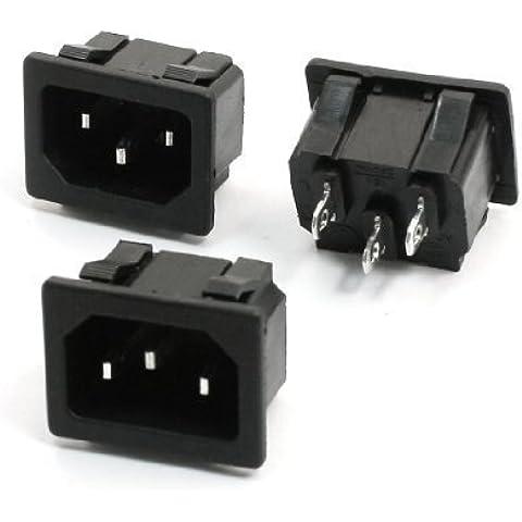 3 piezas de CA 250 V 15 A conector IEC 320 C14 de vaso de entrada tipo de abrazadera de alimentación de corriente