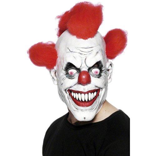 Amakando Horror Clown Maske Halloween Clownsmaske 3/4 Clownmaske Harlekin Latexmasken Horrorclown Faschingsmaske Grusel Horrormaske (Horror Clown Maske)