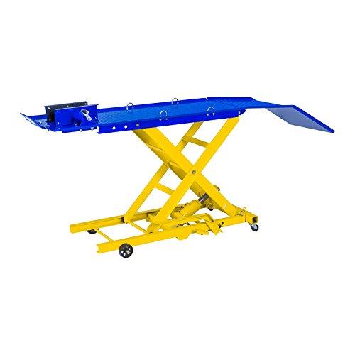 MSW Table Elévatrice Table de Levage MSW-MHB-360-780 (capacité de Charge 360 kg, Hauteur 21 - 78 cm, Plate-Forme (L x l) : 175 x 50 cm, 4 Roues, arrêt de Course pour Roue Avant)