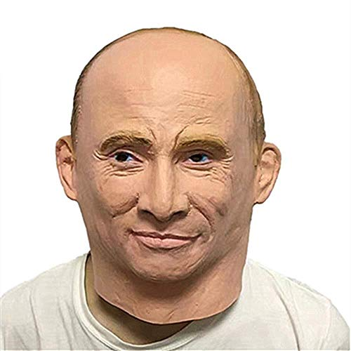 Russlands Präsident Wladimir Putin Latex Maske Vollgesichts Halloween Gummimasken Maskerade Party Erwachsene Cosplay Phantasie Kostüm Requisiten (Kostüm Party Russland)