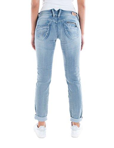 Timezone Damen Jeans (Schmales Bein) Slim Kairina Blau (Athletic 3022)