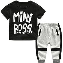 PAOLIAN Ropa para Niños Recien Nacidos Conjuntos Ropa para Niños Babe para  Verano Manga Corta Camisetas ea2c2d06fbc1