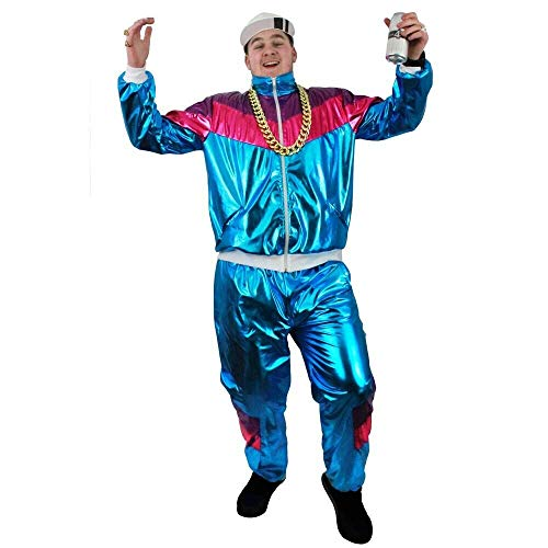 Men's 80's Shiny Shell Suit Fancy Dress - XXL
