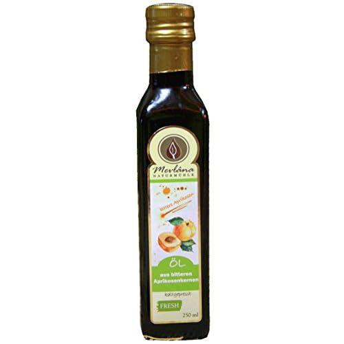 Aprikosenkernl Aus Bitteren Kernen 1 X 250 Ml Schonend Kalt Und Frisch Gepresst Von Mevlana Naturmhle Feiner Geschmack Nach Mandeln Und Marzipan
