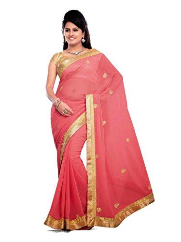 Bollywood Designer Traditionelle indische Partywear Brautschmuck Frauengewand tm-62 Gr. One size, rose