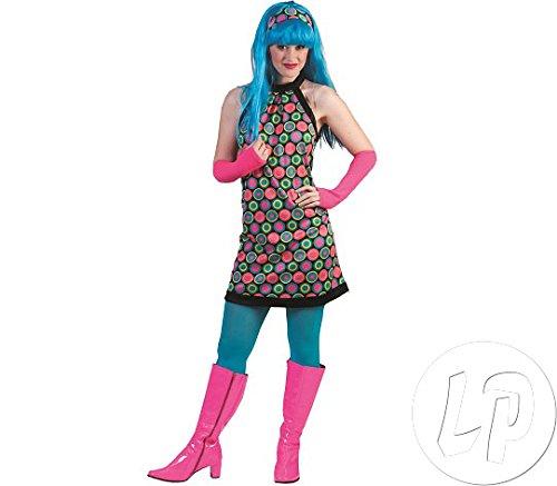 Polka Dot Kleid Gr. 40 42 - Disco Fieber Für Erwachsene Kostüm