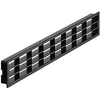 gedotec Puerta de entlüfter perforadas rejilla ventilación Muebles de desagües rejilla–h3616, 458x 65mm, para caravanas & Muebles | plástico negro, 1pieza