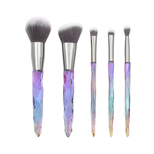 Makeup Brushes,Professionnelle Kits ,Lot De 5 Pinceaux De Maquillage en Cristal Et Diamants avec PoignéE Transparente Makeup Brushes Brush Beauté Maquillage