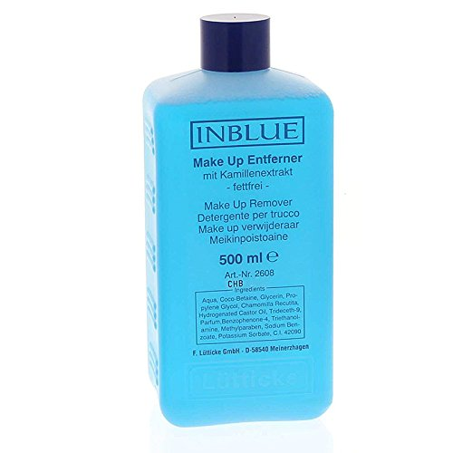 Inblue Make up Entferner, fettfrei Augenmake up Entfernung, Lütticke, 500 ml