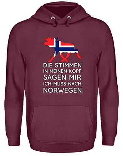 Die Stimmen im Kopf Sagen Ich muss nach Norwegen – Nordisches Skandinavien T-Shirt – Unisex Kapuzenpullover Hoodie