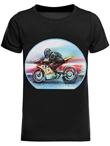 BEZLIT Kinder T-Shirt Jungen Shirt Kurzarm T-Shirts LED Licht Effekt 30033 Schwarz 116