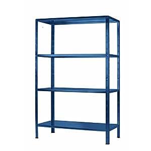 regal steckregal blau metall 190x100x40cm regalsystem steckregalsystem 4 metall b den traglast. Black Bedroom Furniture Sets. Home Design Ideas