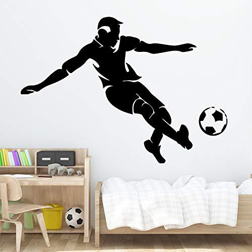 Fußballspieler Wandaufkleber Moderne Mode Wandaufkleber Dekoration Zubehör für Wohnzimmer Hintergrund Wandkunst Aufkleber XL 58 cm X 82 cm