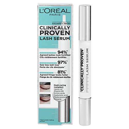 L'Oréal Paris Clinically Proven Lash Serum, Wimpernserum für voller, kräftiger und länger wirkende Wimpern, mit Hyaluron (1 x 2 ml)