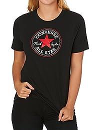 Converse - Core Solid Chuck Patch 10001124 001 schwarz Damen Skinny Logo T-Shirt
