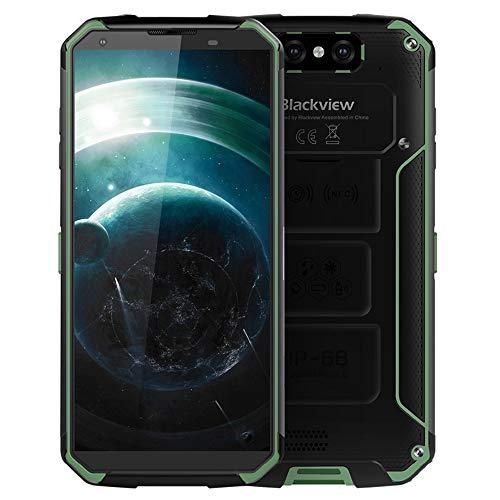 """Outdoor Smartphone, Blackview BV9500 10000mAh IP68 Smartphone Rugged Mobile Phone Antipoussière Etanche Antichoc 5,7"""" 16MP Caméra 4G+64G Chargeur sans Fil NFC Dual SIM - Vert"""