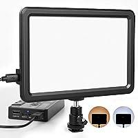 Kamera Videoleuchte LED, RALENO Studio-licht Ultra-dünne Tragbare CRI 95+ Eingebaute 5000mA Lithium-Batterie 3200K-6500K Kamera Videobeleuchtung mit Blitzschuhhalterung für alle DSLR Kameras