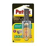 Pattex Power Epoxy Saldatutto Mix 5 minuti, forte colla epossidica bicomponente a elevata tenuta finale, colla multiuso adatta per quasi ogni materiale, trasparente, 1x12g