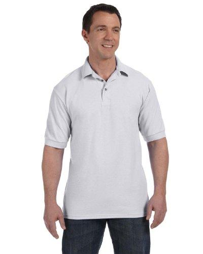 Hanes Herren Baumwolle Poly Welt Kragen und Manschetten Short Sleeve Pique Polo Shirt Grau