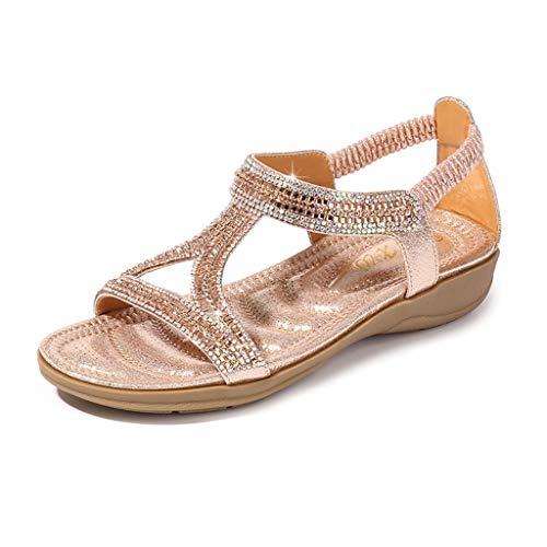 Sandali bambina/sandali donna con tacco e plateau/estate sandali da donna spiaggia bohemia eleganti aperte bassi scarpe con strass/sandali donna con zeppa/zarupeng