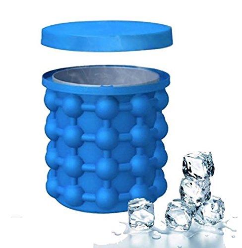 Silikon-Eis-Eimer, Ice Ball Maker Genie mit Deckel Eis-Würfel-Form-Raumersparnis Veranstalter für Party WM Ice Box