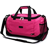 YUELANG Sport Bag Training Gym Bag Men Woman Fitness Bags Durable Multifunction Handbag Outdoor Sporting Tote For Male (Color : Rose red, Size : One size)