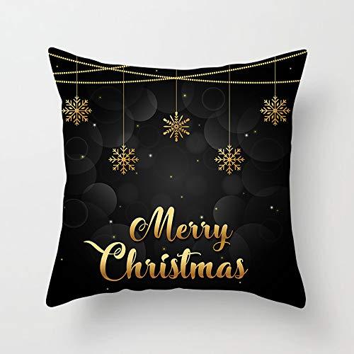 YBZTHK Weihnachtskissen Digitaldruck Kissen Kissen Nach Hause 45 * 45Cm Xmas15 (1)