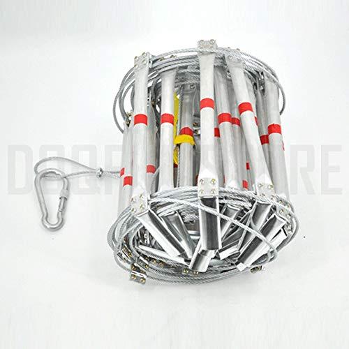 TQ 5 Mt Feuerleiter 17FT Klapp Stahldraht Strickleitern Aluminiumlegierung Notüberlebens Rettungs Sicherheit rutschfeste Werkzeuge