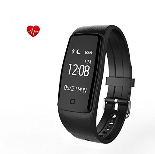 iRapid Fitness-Aktivitätstracker, Bluetooth Smart Armband Armband Schrittzähler mit Heart Rate Monitor/Schritt Tracker/Sleep Tracker rufen Notification Push für IOS und Android-Handy (Entsperrt Entsperrt Handys)