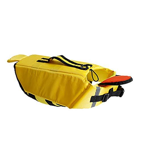 (LOVEPET Hundeschwimmweste Haustier Badeanzug Schwimmhund Jacke Hai Und Ente Design Haustier-Schwimmweste Kleidung Für Hunde)