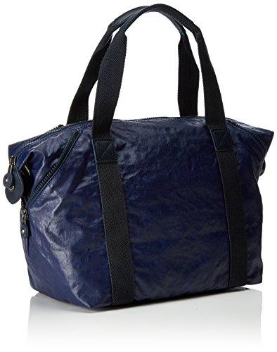 Kipling Damen Art S Henkeltasche, 44x27x18 cm Blau (Lacquer Indigo)