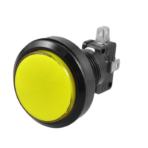Gelb LED-Lampe 36 mm Dia Runde Push Button w Endschalter für Arcade Video Game - Metall-endschalter