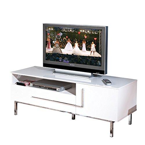 Links 50700670 TV-Kommode Deltino III MDF, Hochglanz, 145 x 47 x 49 cm, weiᄃ - 4