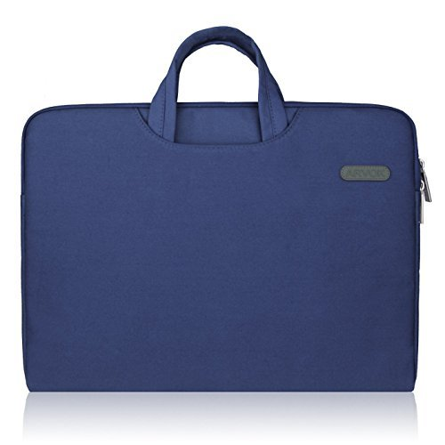 Arvok 15 15,6 16 Zoll Notebooktasche Laptoptasche Aktentasche Wasserfest Canvas-Gewebe Laptop Schutzhülle Mit Griff & Reißverschluss-Tasche/Ultrabook/ Netbook Tasche/Laptophülle, Denim Blau Laptop Blau