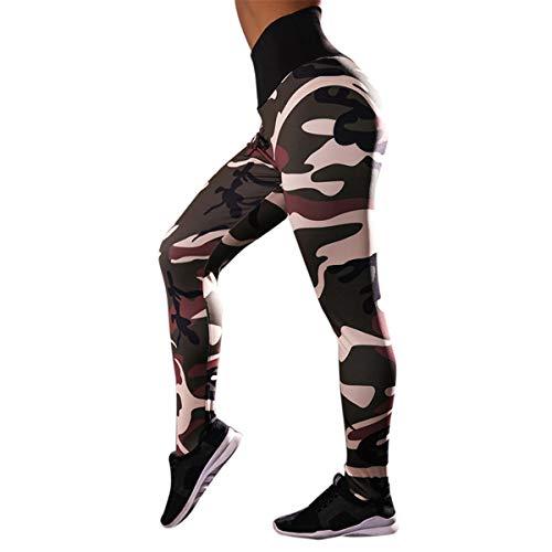 B-commer Yogahosen für Frauen - Damen Training Camouflage Print Leggings Sport Gym Laufen Yoga Athletic ()