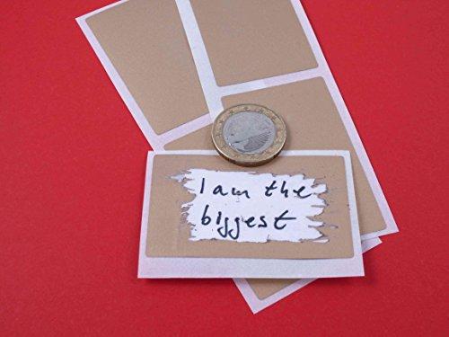 100 Rubbel Etiketten Gold 58x35mm, Scratch Off Label Gold