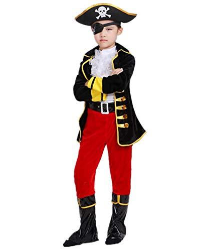 Piraten Kostüm für Jungen Kleinkind Kleiner Mädel Pirat Halloween Kleid Karneval Verkleidungsparty Cosplay Faschingskostüm