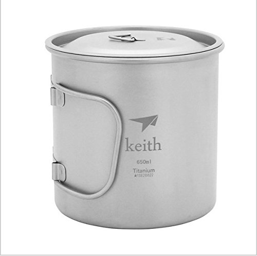 Keith TI3208 Titan Tasse Ultralight Single Wand Vakuum Wasser Tasse Camping Tools 650 ml