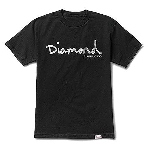 Diamond Supply Co. Men's OG Script SS T Shirt Black