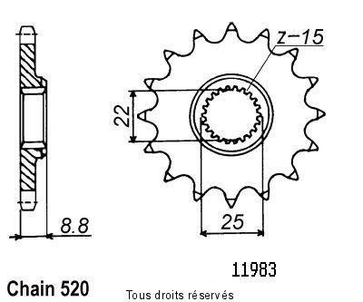 STEEL FRONT SPROCKET KTM EXC 530 RACING 4T 2009-2011 (13 Teeth)