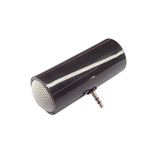 Jintime 3,5 mm Musik Player Portable Stereo Lautsprecher für iPod / iPhone6 Plus Handy (Black)