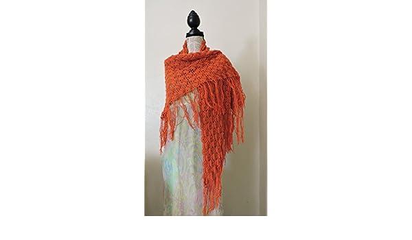 Châle alpaga orange  Amazon.fr  Handmade a49f33863b6