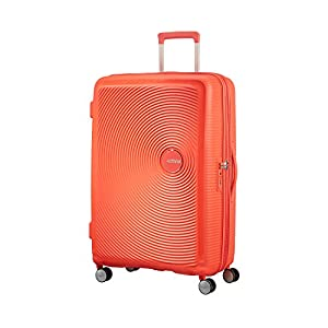 American Tourister Soundbox – Spinner Small Expandable Equipaje de Mano, 55 cm, 41 Liters, Verde (Almond Green/Gold)