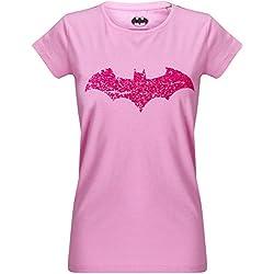 GOZOO Batman Camiseta Mujer Bats Love Pink 100% Algodón Rosa 2XL