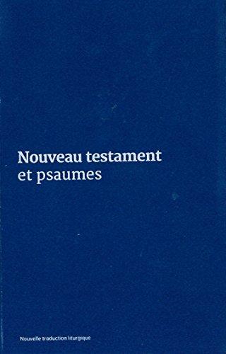 Nouveau Testament et psaumes : Couverture vinyle bleue