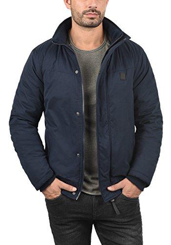 INDICODE Ice Herren Winterjacke Jacke mit Stehkragen und abnehmbarer Kunstfell-Kapuze aus hochwertiger Materialqualität Navy (400)