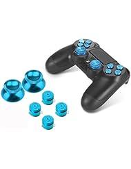 PhoneStar - 4 botones de palanca de aluminio de repuesto para Sony Playstation 4, controlador de mando, accesorios Thumbsticks, teclado para PS4 azul turquesa PlayStation 4 Buttons