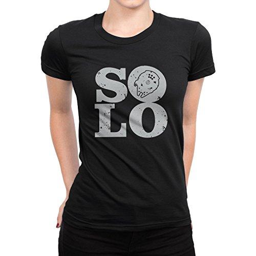 Planet Nerd - Solo Ship - Damen T-Shirt, Größe M, schwarz