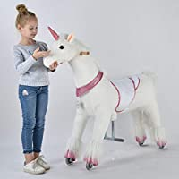 UFREE Horse Great Gift for Girls, Action Pony Toy, Ride on Large 44