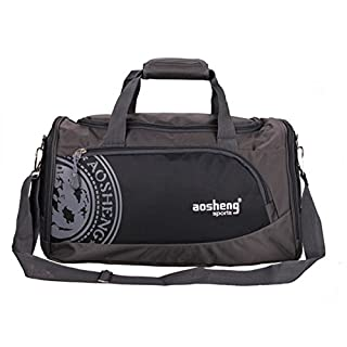 Tutoy Men Woman Gym Bag Large Capacity Outdooors Fitness Multifunctional Shoulder Bag - Black